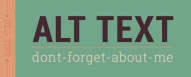 Alt Tags and Other Image Optimization Tools