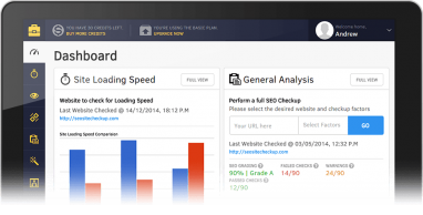Using the SEOSiteCheckUp Dashboard – Important Features